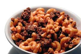 Hamburger Casserole - Cheap Cooking using ground beef, cheese, macaroni!