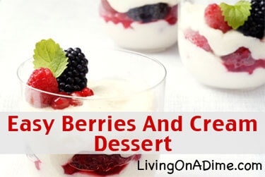 Berries and Cream Dessert Recipe