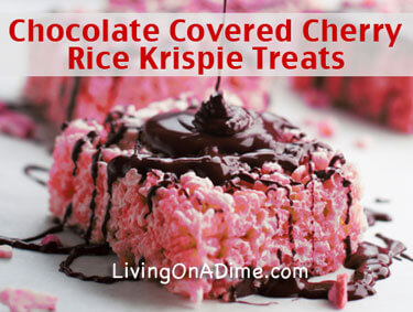 Chocolate Covered Cherry Rice Krispie Treats Recipe