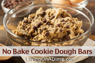 No Bake Cookie Dough Bars Recipe