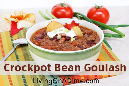 Easy Crockpot Bean Goulash Recipe
