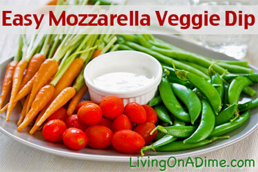 Easy Mozzarella Veggie Dip Recipe