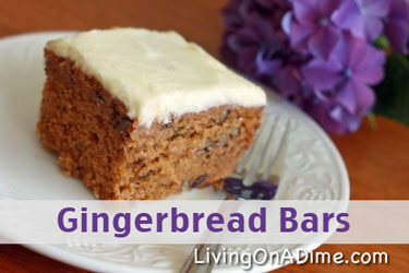 Soft and Chewy Gingerbread Bars