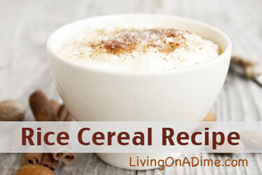 Rice Cereal Recipe