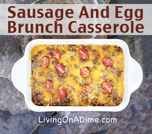 Sausage And Egg Brunch Casserole Recipe