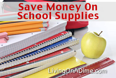 Save Money on Back To School Supplies