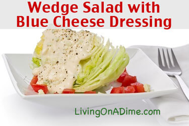 Wedge Salad with Homemade Blue Cheese Dressing Recipe