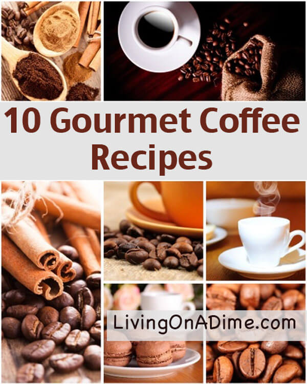 Try these easy gourmet coffee recipes to make some of your favorite coffee drinks for a lot less money! These easy coffee recipes also make great homemade jar mix gifts!
