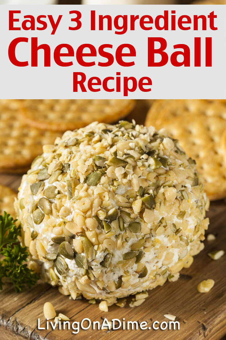 This 3 Ingredient Easy Cheese Ball Recipe makes a tasty cheese dip and is our family's favorite dip for the holidays! This is a Christmas favorite but it can be served at New Year's or any time you want a quick and easy dip.