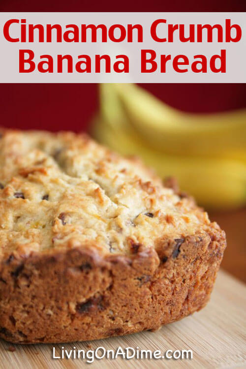 Cinnamon Crumb Banana Bread Recipe