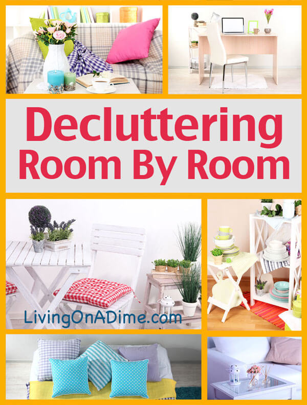 decluttering your home roomroom - living on a dime