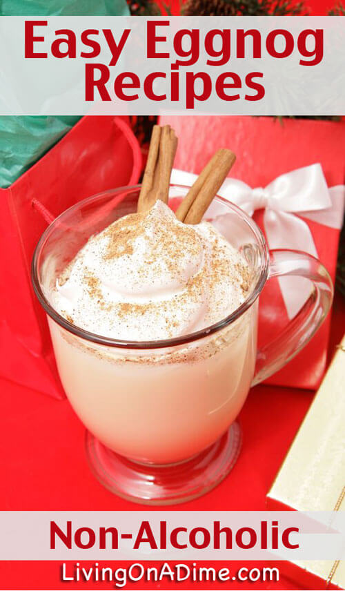 Here are two easy non-alcoholic homemade eggnog recipes that you can prepare ahead and take to holiday parties or simply enjoy at home during the holidays!