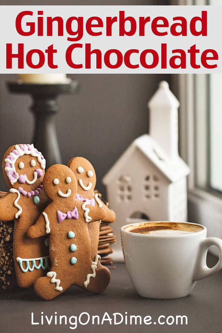 Gingerbread Hot Chocolate And Gingerbread White Hot Chocolate Recipes