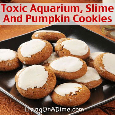 Halloween Ideas and Recipes - Toxic Aquarium Slime And Pumpkin Cookies Recipes