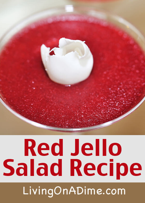 Red Jello Salad - Click Here To Get The Easy Recipe!
