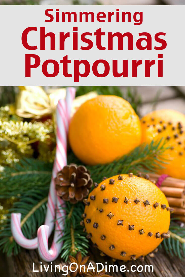 This simmering Christmas potpourri recipe makes a yummy and cheerful smelling potpourri that's sure to get you in the mood for the holidays!