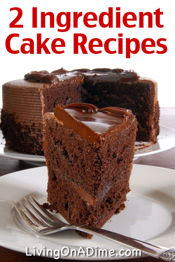 Easy two ingredient cake recipes forumfinder Image collections