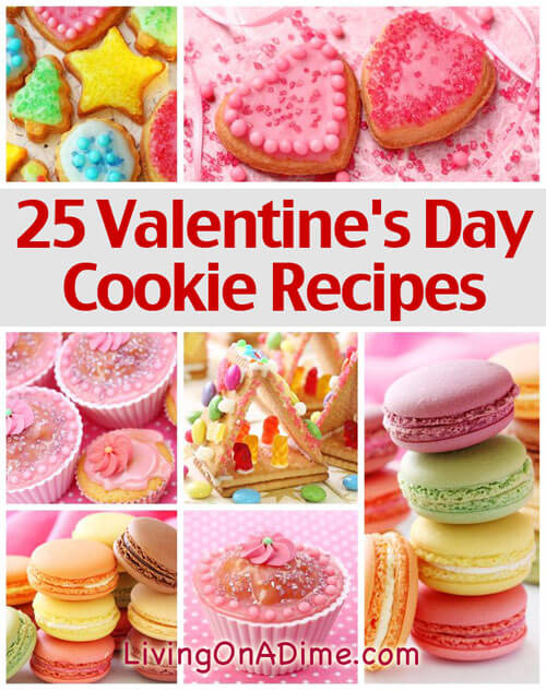 25 Valentine\'s Day Cookie Recipes - Yummy Valentine\'s Treat!