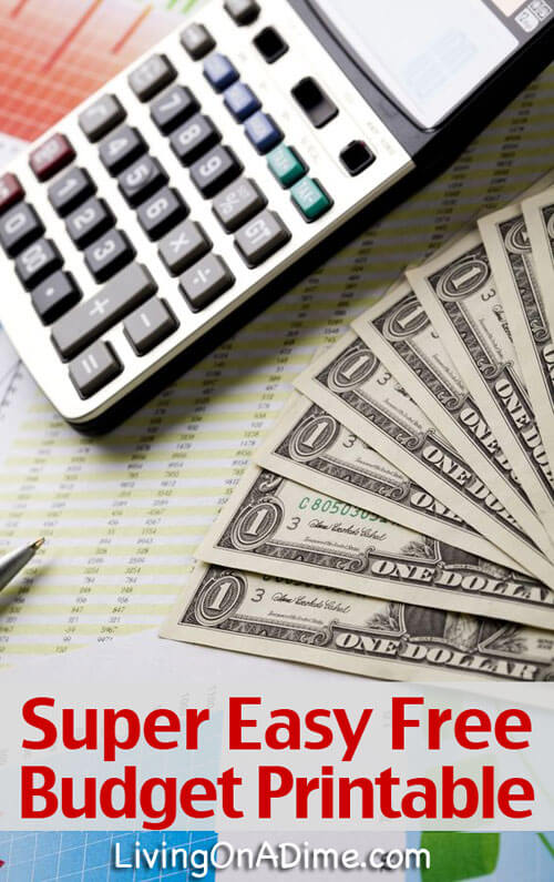 Budget Information and Easy Free Printable Budget Forms