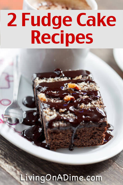 Easy Fudge Cake Recipes - Triple Fudge Cake - Caramel Fudge Cake