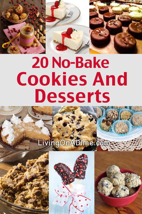 Try these easy no-bake cookies and desserts recipes! Most of them can be made in 5-10 minutes and they're great for kids, parties or last minute guests!