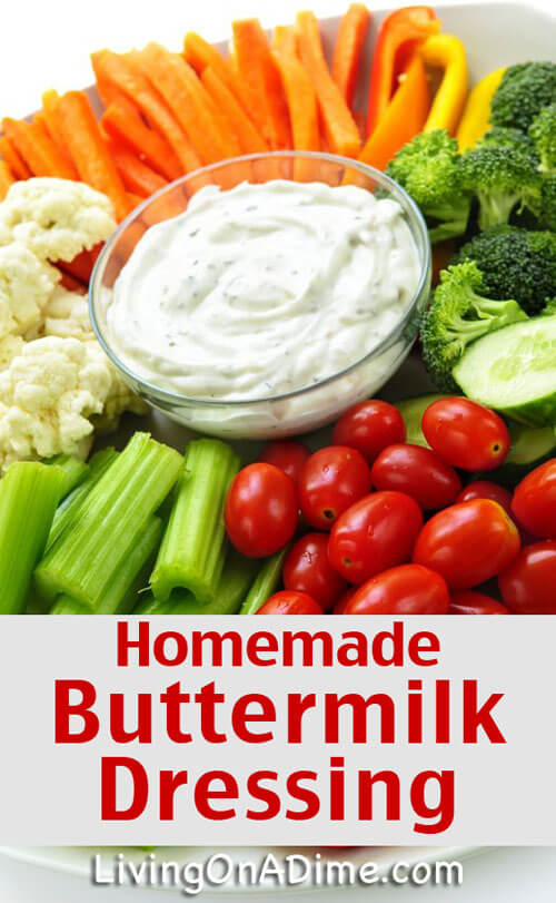 Homemade Buttermilk Dressing Recipe