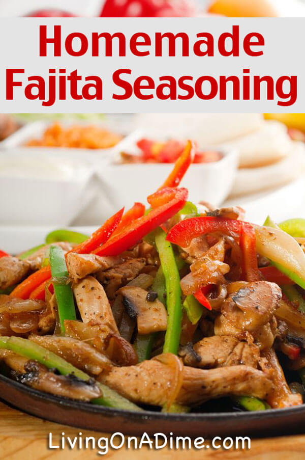 Homemade Fajita Seasoning Recipe - Homemade Seasonings Mixes And Blends
