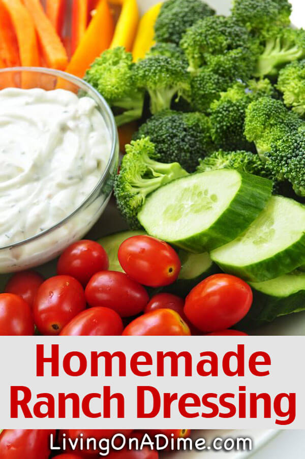 Homemade Ranch Dressing Recipe - Homemade Seasonings Mixes And Blends