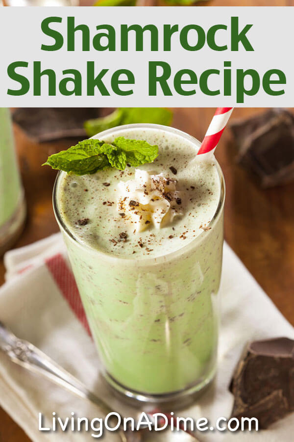 Homemade Shamrock Shake Recipe - Chocolate Mint Milkshake