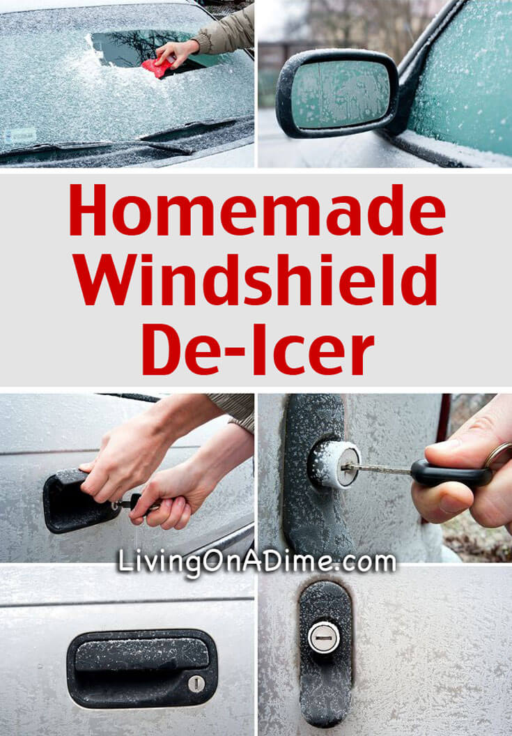 This homemade windshield de-icer recipe is one of those recipes that is so simple you are going to wonder why you ever purchased de-icer for you car. It takes about 20 seconds to make and it works GREAT!