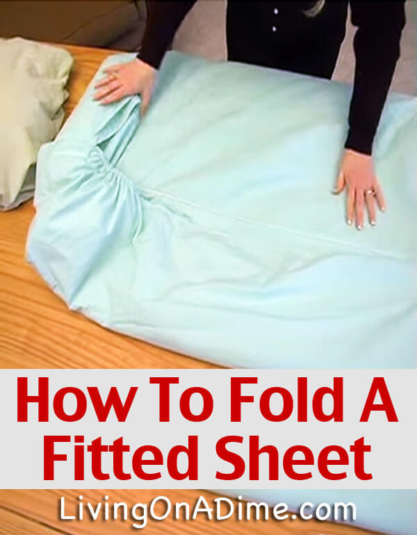 Check out this easy step by step video that shows you how to fold a fitted sheet! You can do it in just a minute once you learn how! No more wadded sheets!