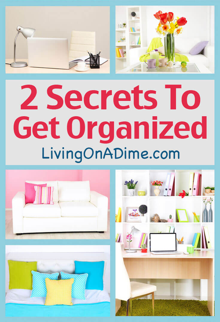 How to start organizing - Getting organized can be a big job but these easy steps can help you get your clutter under control! Don't put it off any more!