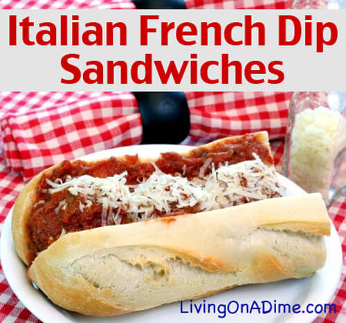 Italian French Dip Sandwiches Recipe