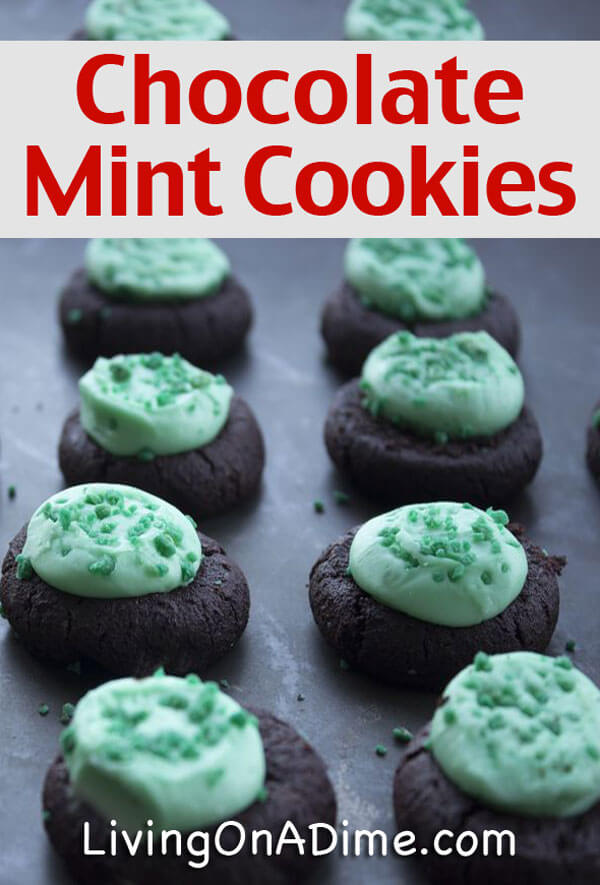 Homemade Chocolate Mint Cookies Recipe