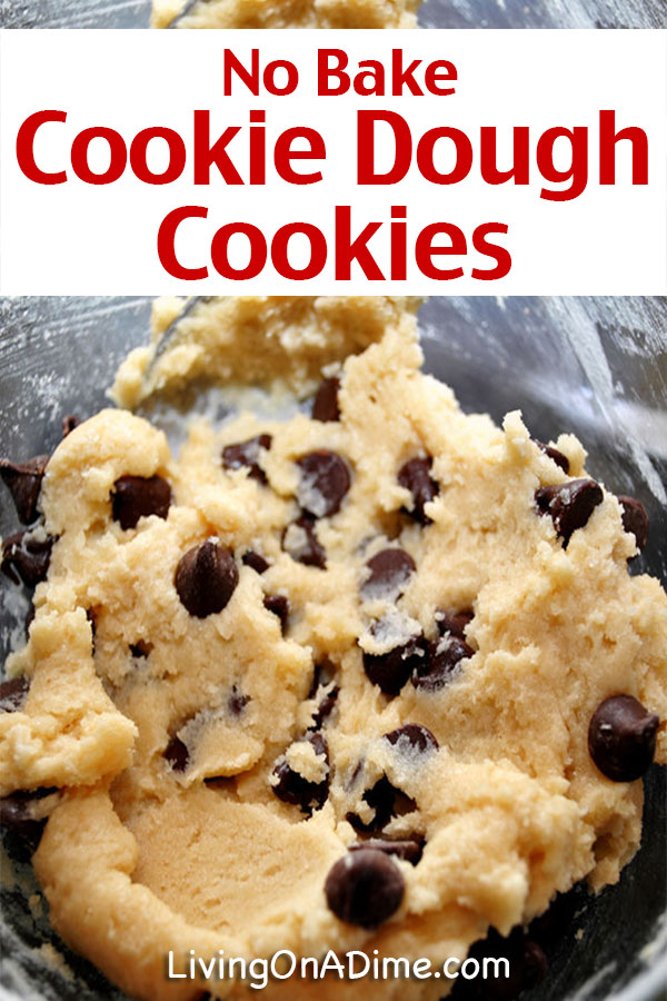 No Bake Cookie Dough Cookies Recipe