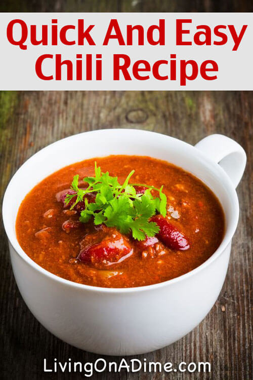 Quick And Easy Homemade Chili Recipe - 7 Meals That Take 10 Minutes