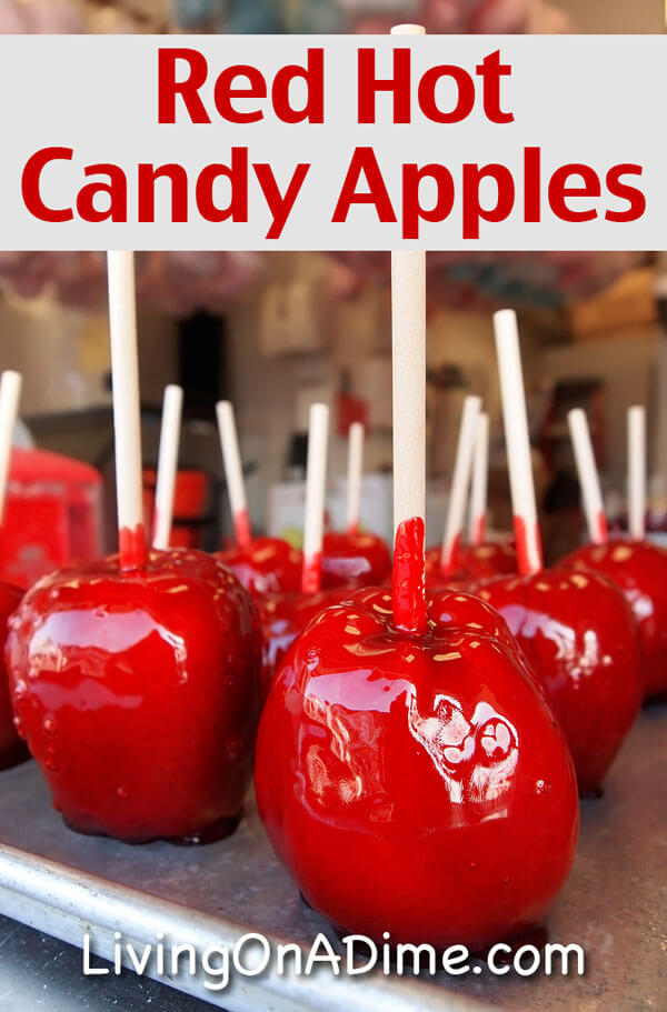try these easy red hot candy apples recipes these bright red cinnamon apples are perfect - Christmas Candy Apples