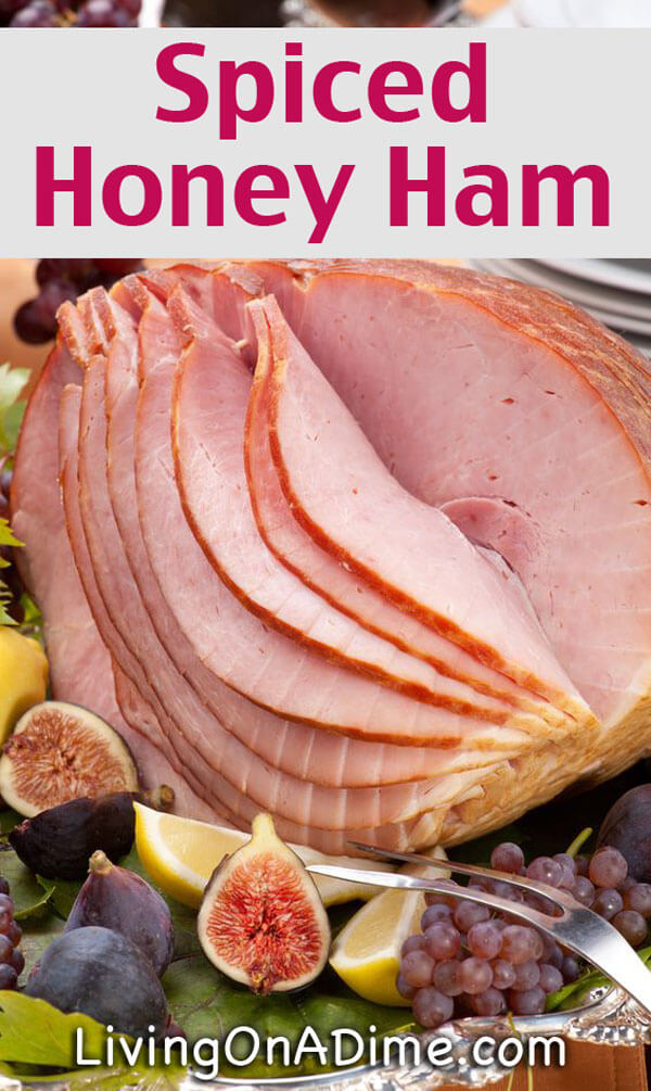 This spiced honey ham recipe falls off the bone and has a tangy, sweet and spicy glaze that will have your family fighting over the lefto