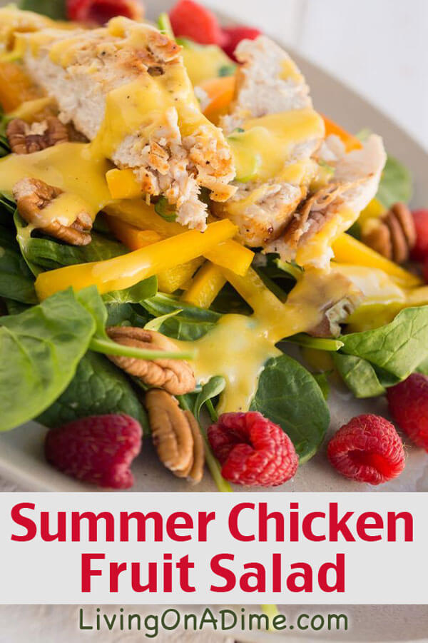 Summer Chicken Fruit Salad Recipe - 10 Chicken Dinner Recipes For $7 Or Less