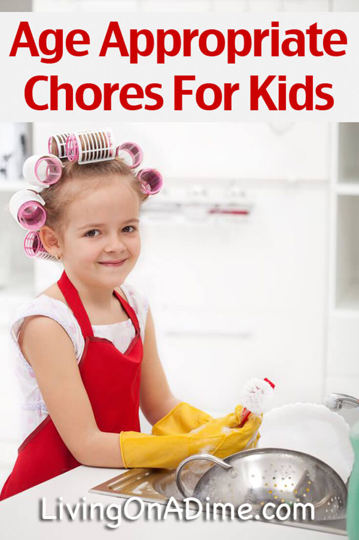 Here is a list of age appropriate chores for kids, listing chores kids can do at various ages along with easy tips to manage your family's household chores!