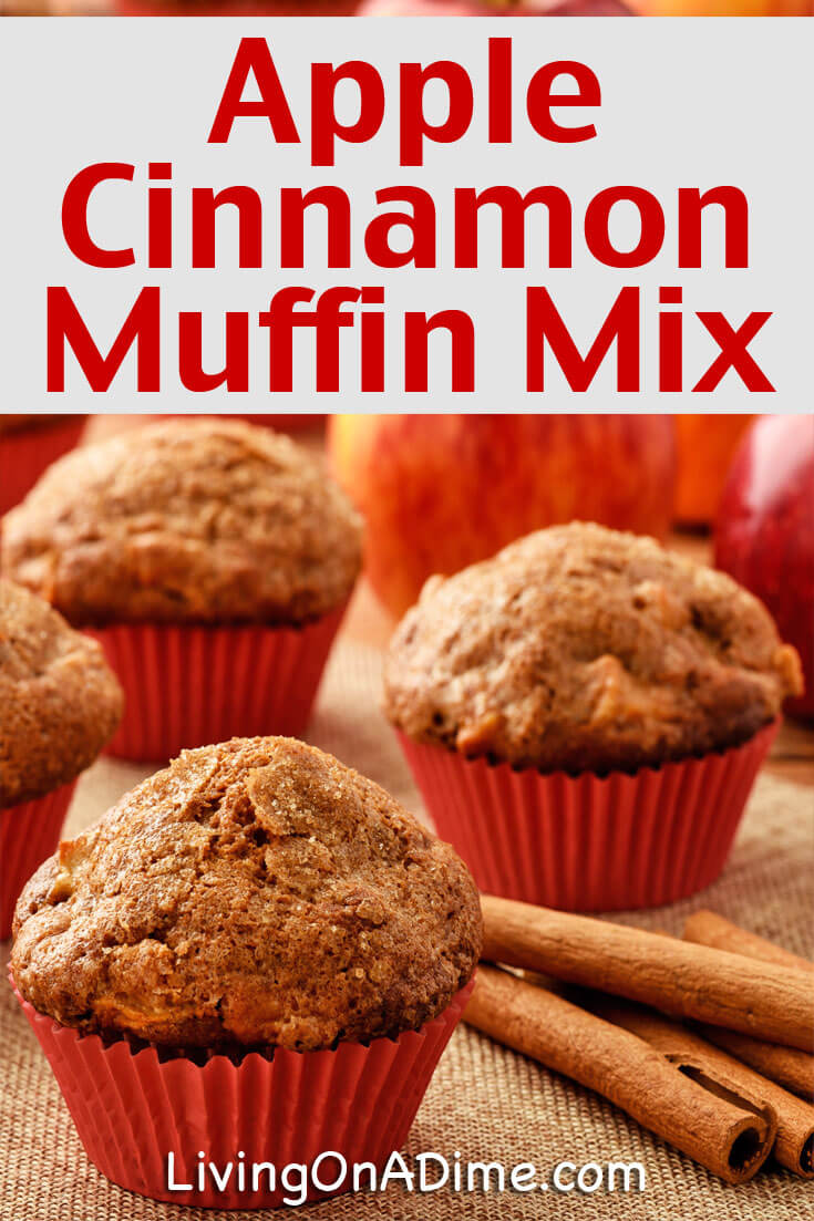 This homemade apple cinnamon muffin mix makes super yummy muffins which are great for all kinds of occasions and make great easy gifts in a jar! They're great for breakfast, after school snacks, as an addition to a family meal and more! Our family loves them and you will, too!