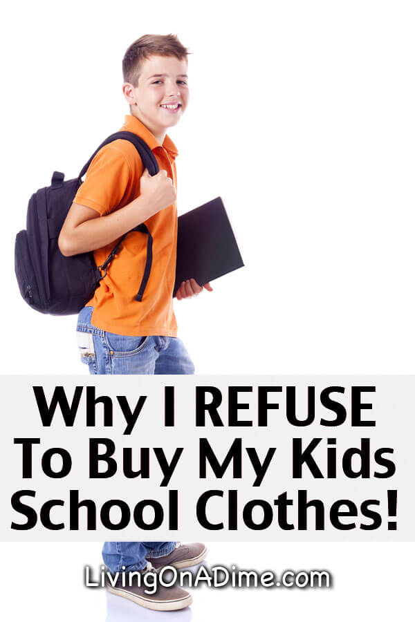 Why I REFUSE To Buy My Kids School Clothes! Back To School Supplies Spending