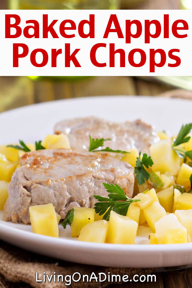Cheap Meal Plans - Baked Apple Pork Chops Recipe