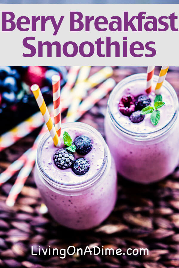 These easy fruit smoothies recipes are healthy and yummy! There's a tasty berry breakfast smoothie recipe and a tropical green smoothie that included your greens but doesn't taste like it!