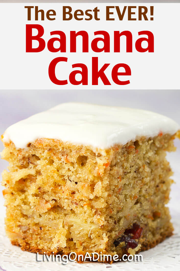 This Is The BEST Banana Cake Recipe In World Its Moist Delicious