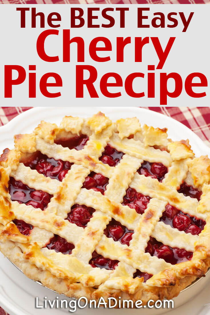 This easy homemade cherry pie recipe makes the BEST cherry pie! Cherry pie is delicious and great for all kinds of occasions- parties, family dinners, holiday get-togethers and more! It's so versatile because everyone loves it! Try this recipe and you won't go wrong!