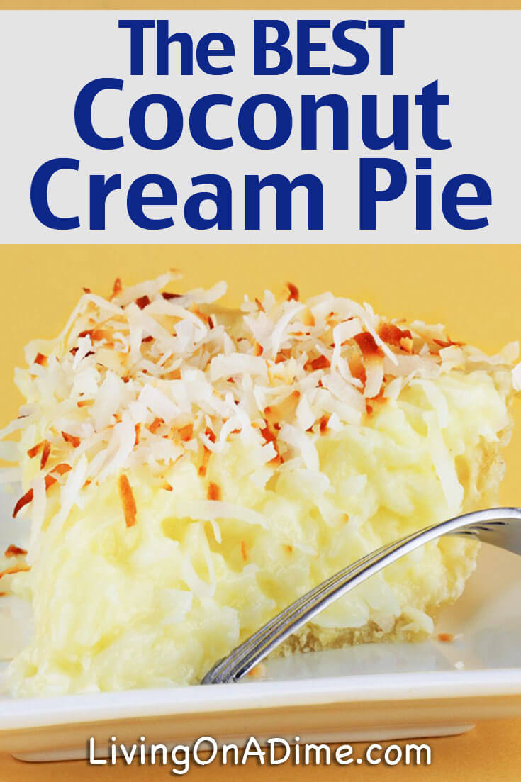 I just LOVE coconut cream pie! This easy coconut cream pie recipe is the best! It tastes great and I don't have to wait too long to eat it! lol. It's great for get-togethers and parties!