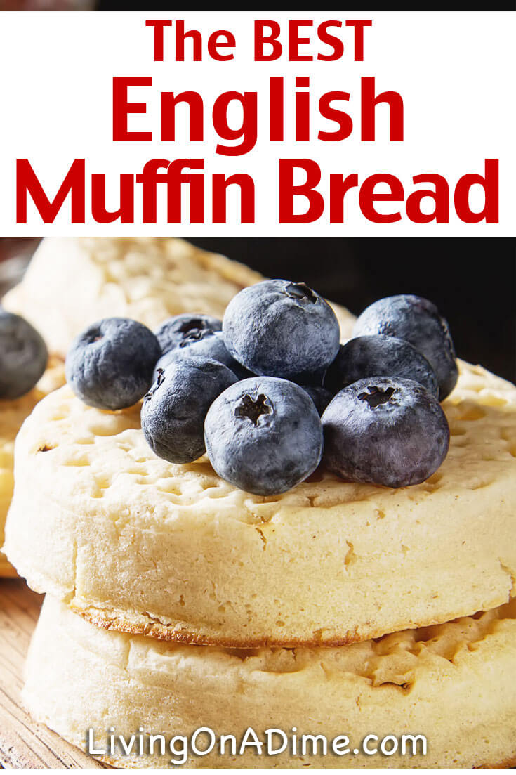 This easy English muffin bread recipe is one for my favorite recipes! I LOVE English Muffins but hate to make the individual muffins. This recipe is great because you can get the taste of English Muffins without all the work! If you have a small family you can just slice it up and store in the freeze and take out pieces as you want them.