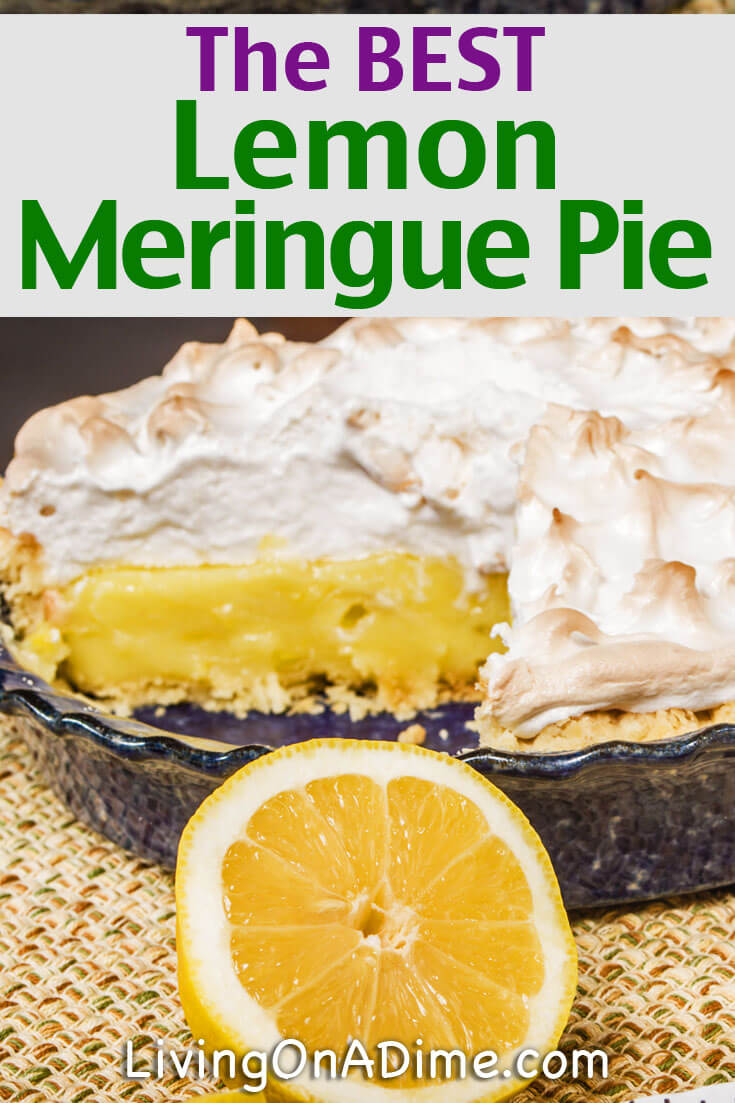 This is the BEST lemon meringue pie recipe! It makes a light and yummy lemon meringue pie that's great for holidays and parties!