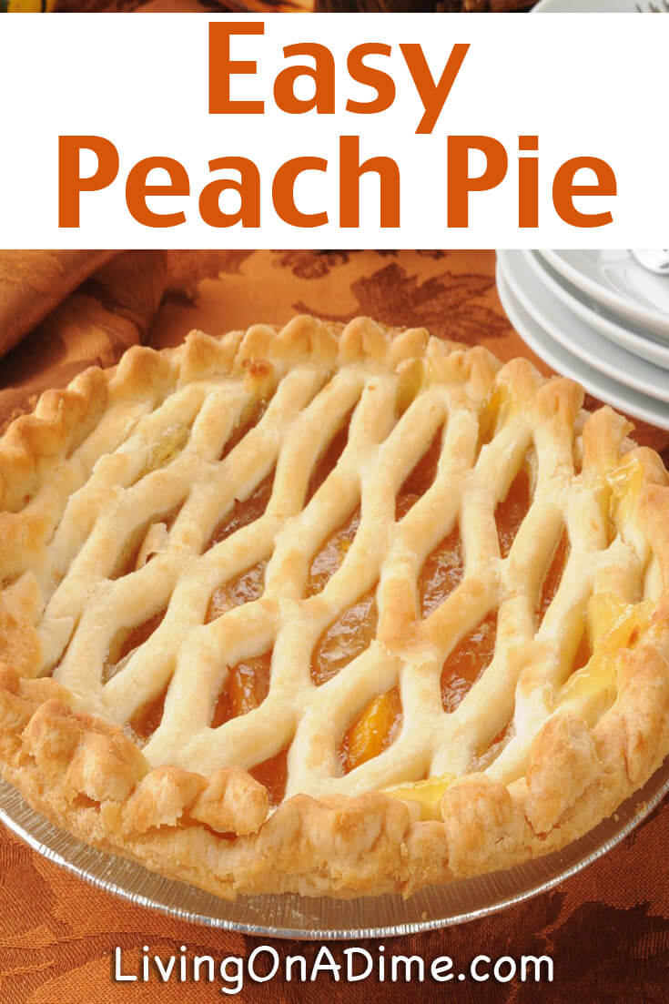 This is the best easy peach pie recipe! It's easy to make with fresh, frozen or canned peaches and it's super delicious! It's something different than the standard apple or cherry pie great for dessert or to bring to a party or holiday get-together!